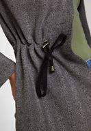 Bayan Gri Beli Büzgü Detaylı Ceket