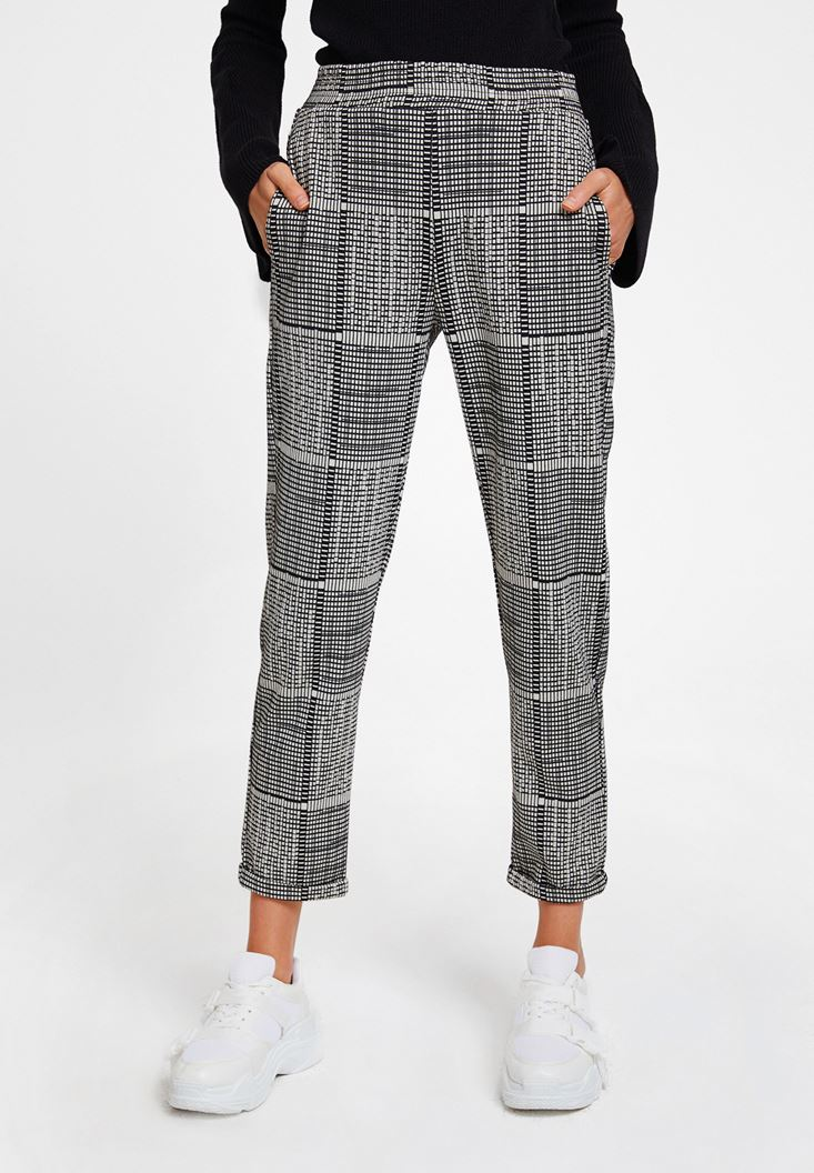 Mixed Jogger with Mix Pattern