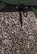 Women Mixed Leopard Print Skirt