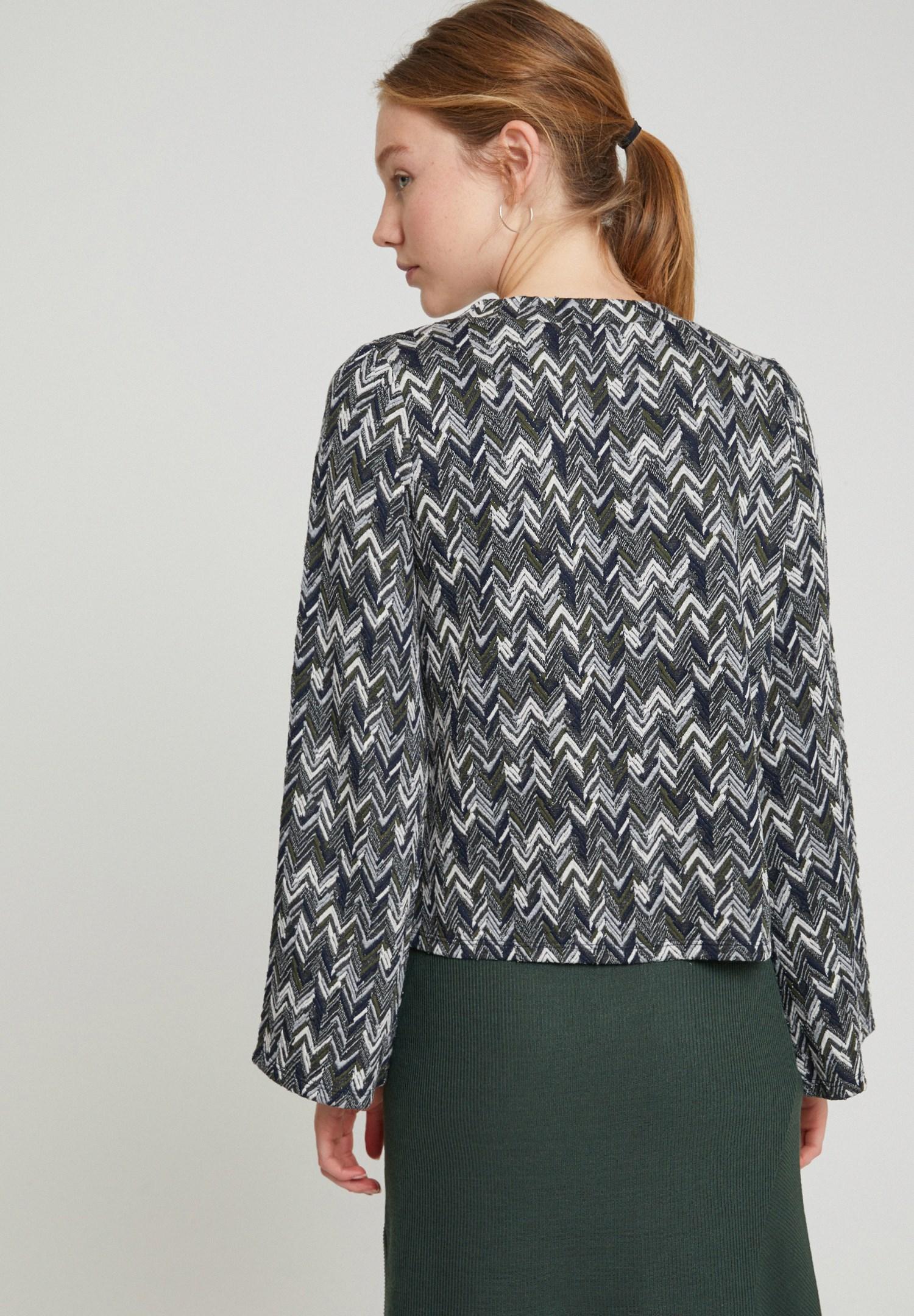 Bayan Çok Renkli Karışık Desenli Sweatshirt