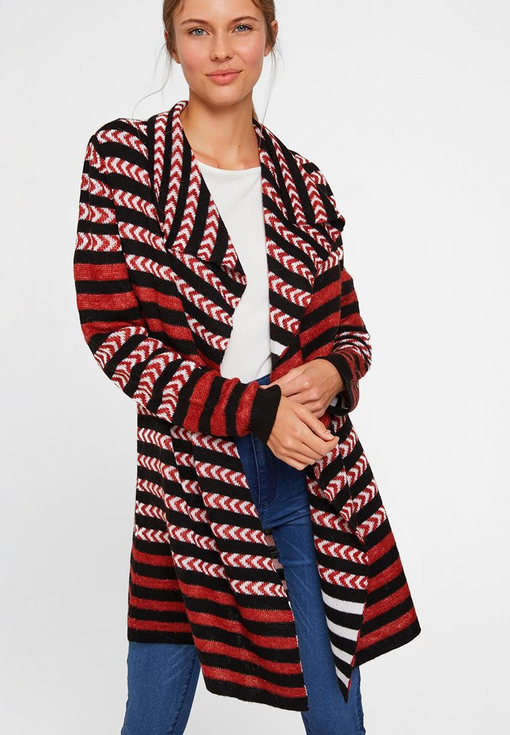 Mixed Cardigan with Mix Pattern