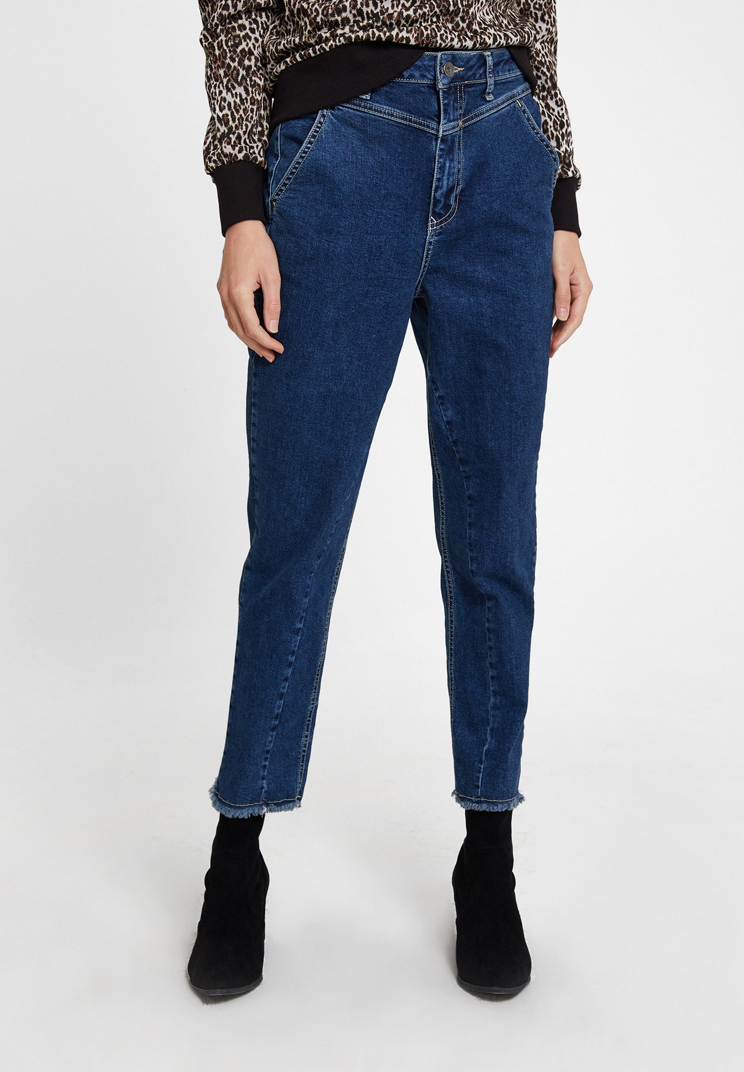 Women Blue High Rise Denim with Detail