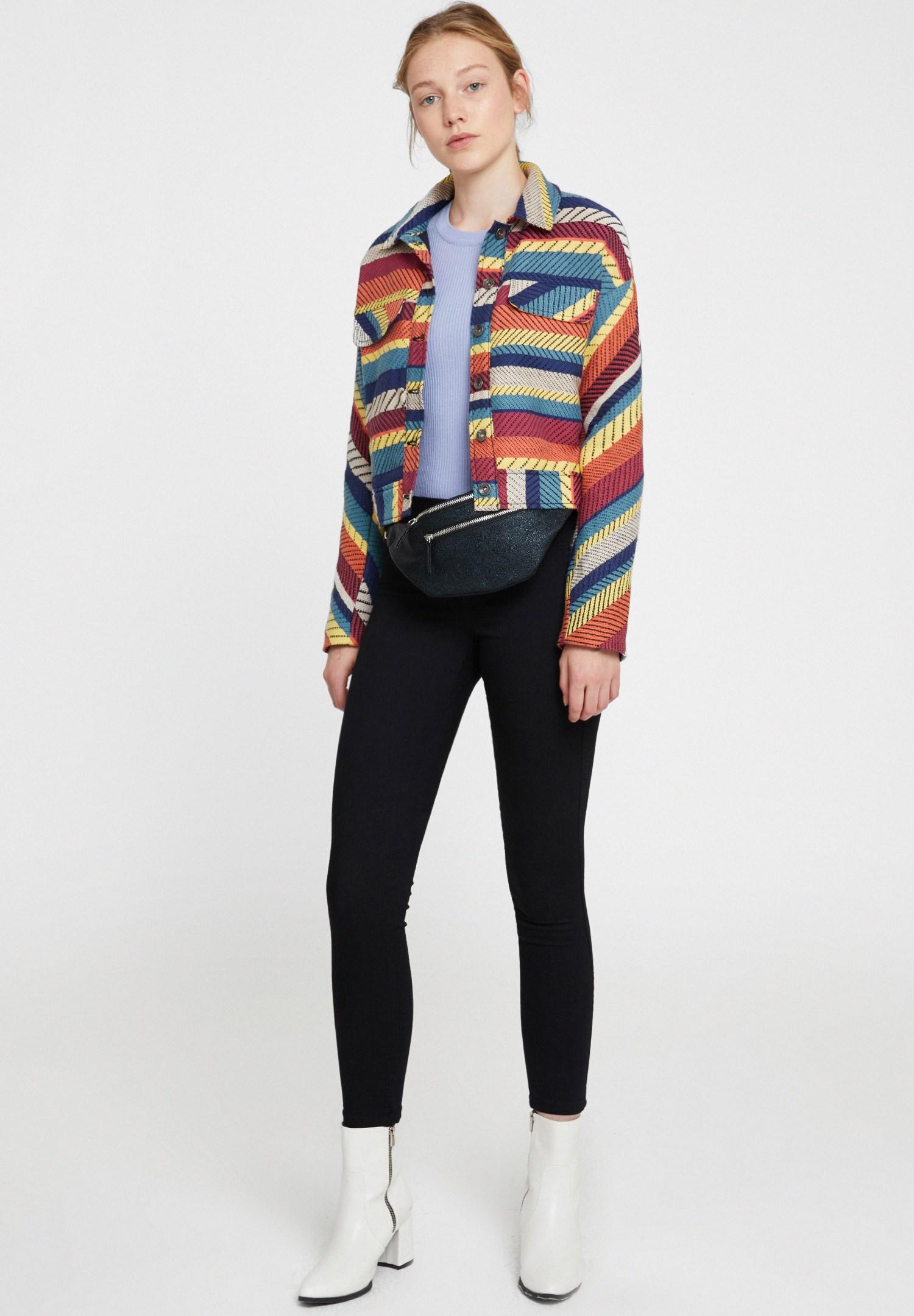 Bayan Siyah Orta Bel Arka Cep Detaylı Tayt Pantolon