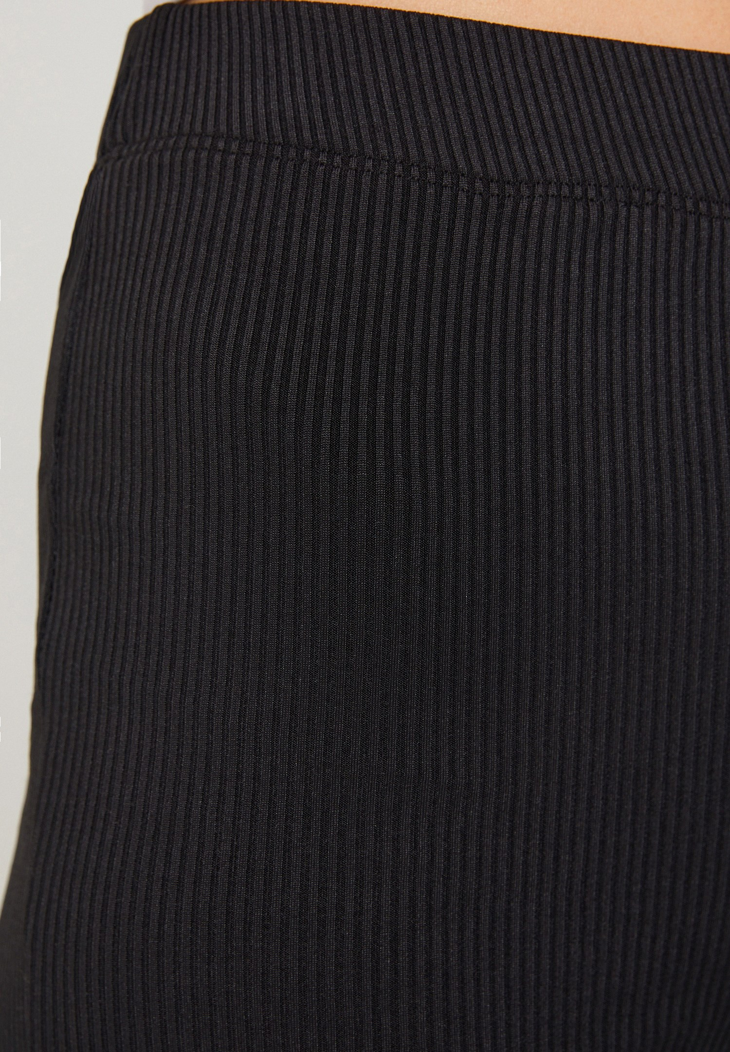 Women Black Flare Trousers with Details