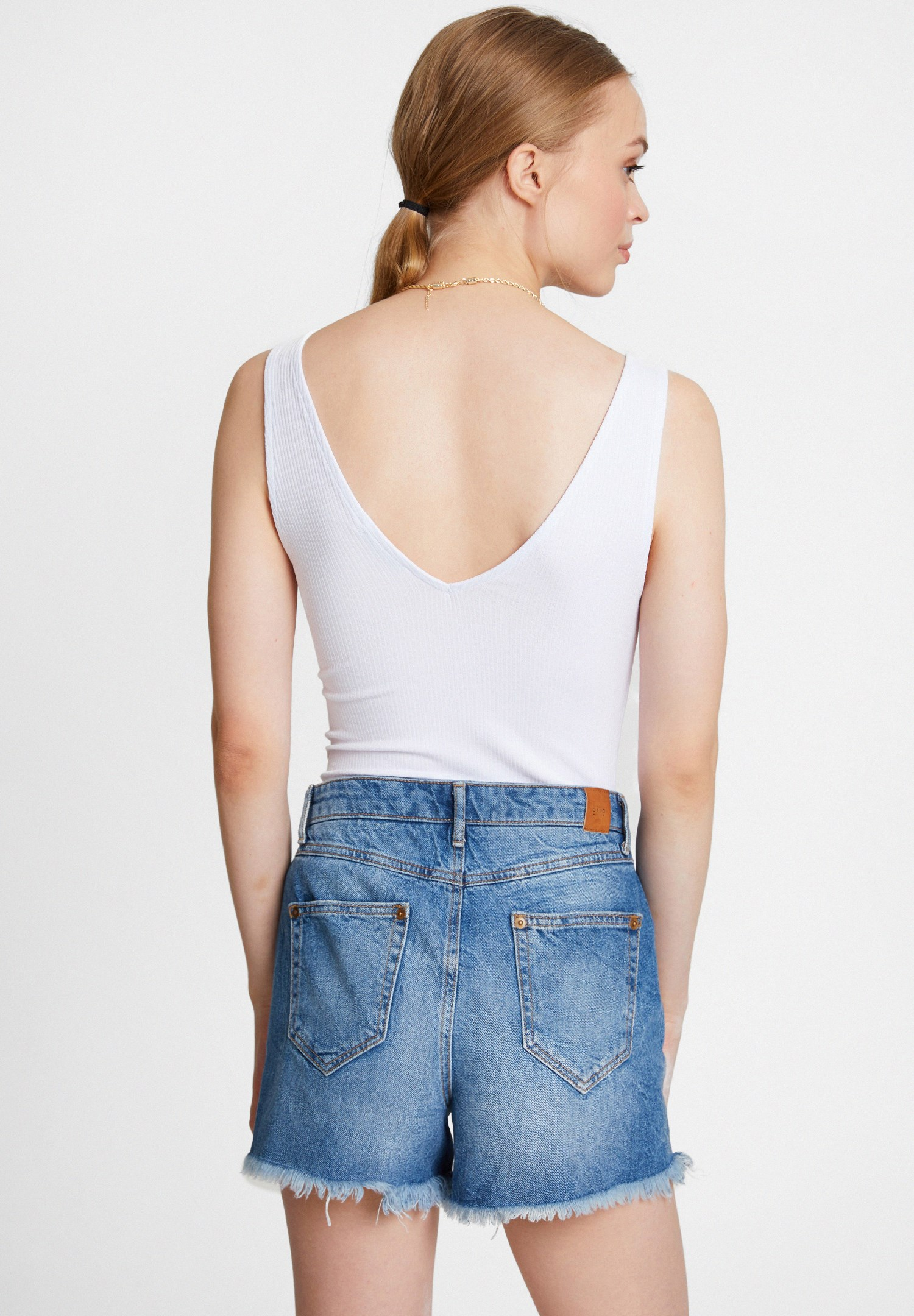 Women White Top with Wide Straps