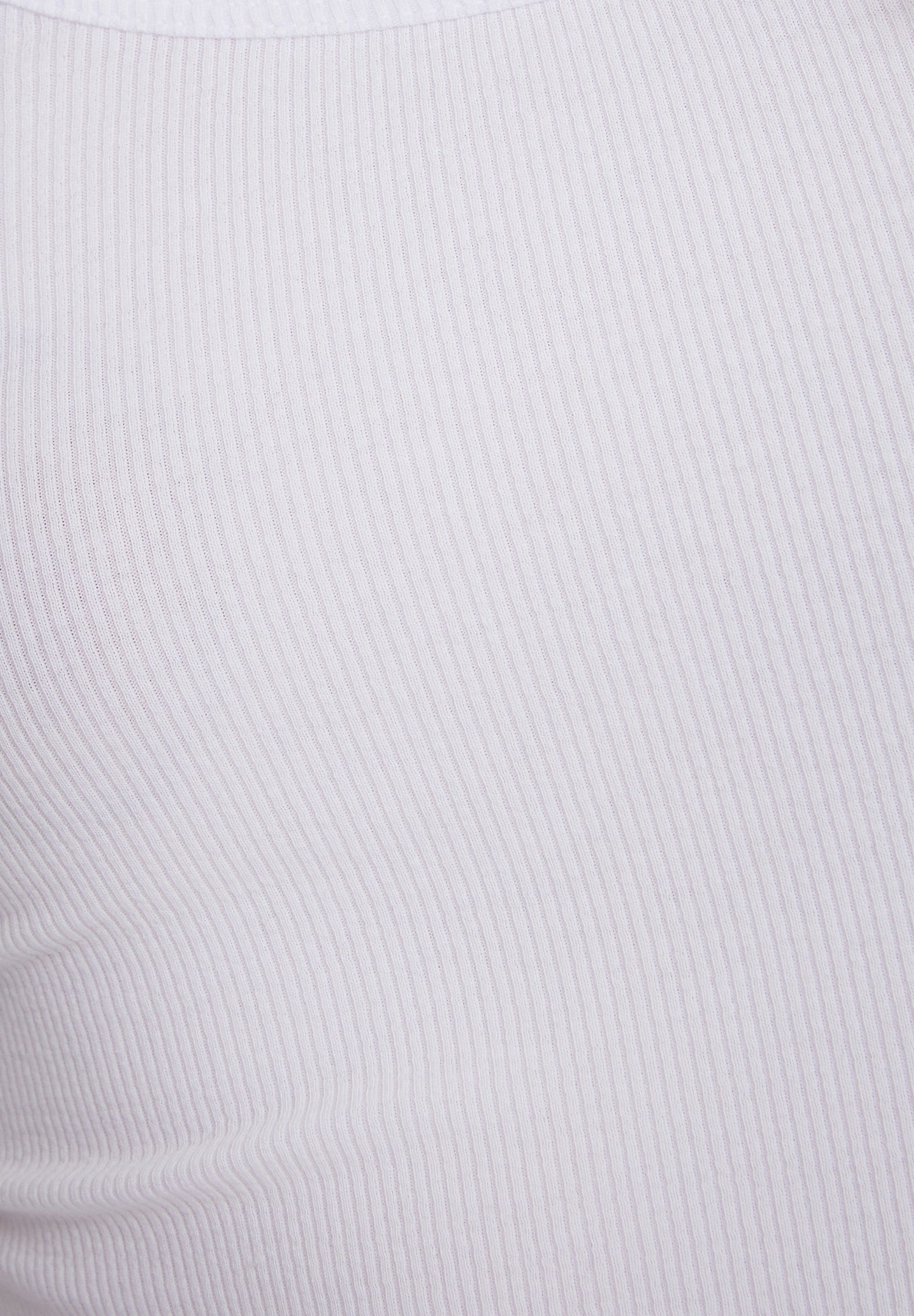 Bayan Beyaz Basic U Yaka Tişört