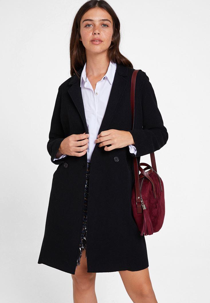Black Cashmere Overcoat