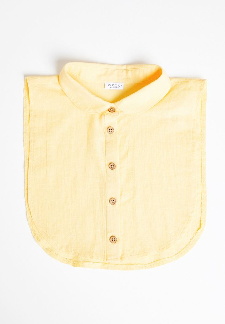 Yellow Linen Mock Shirt
