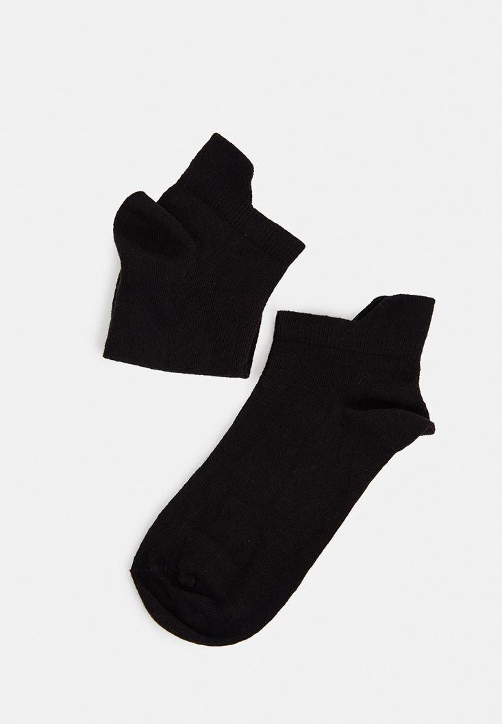 Siyah Kısa Bilek Çorap