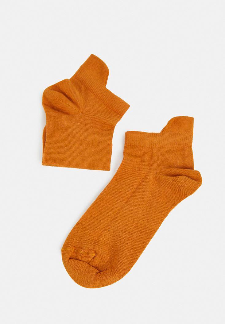Sarı Kısa Bilek Çorap