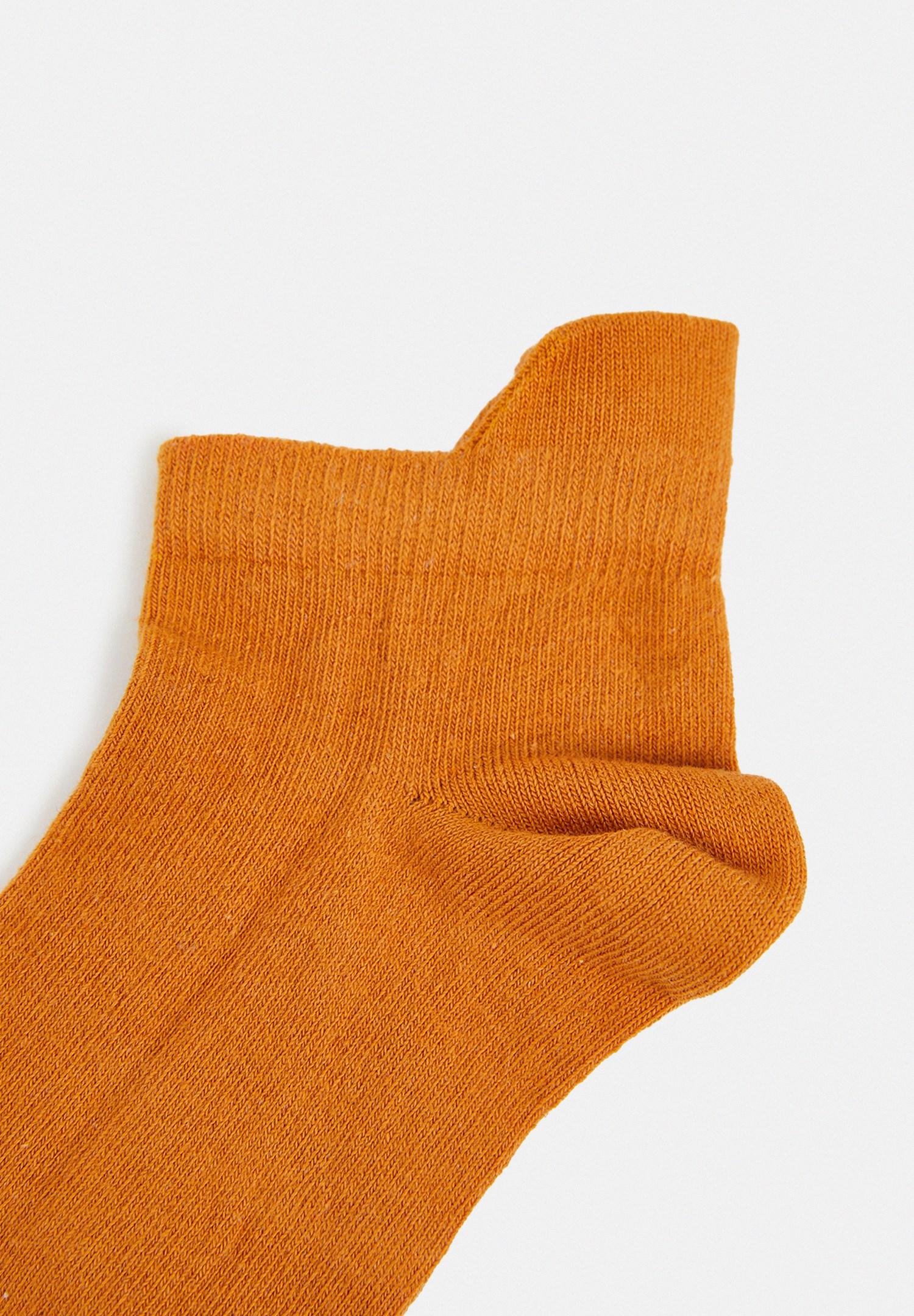 Bayan Sarı Kısa Bilek Çorap