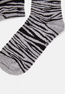 Bayan Çok Renkli Zebra Desen Çorap