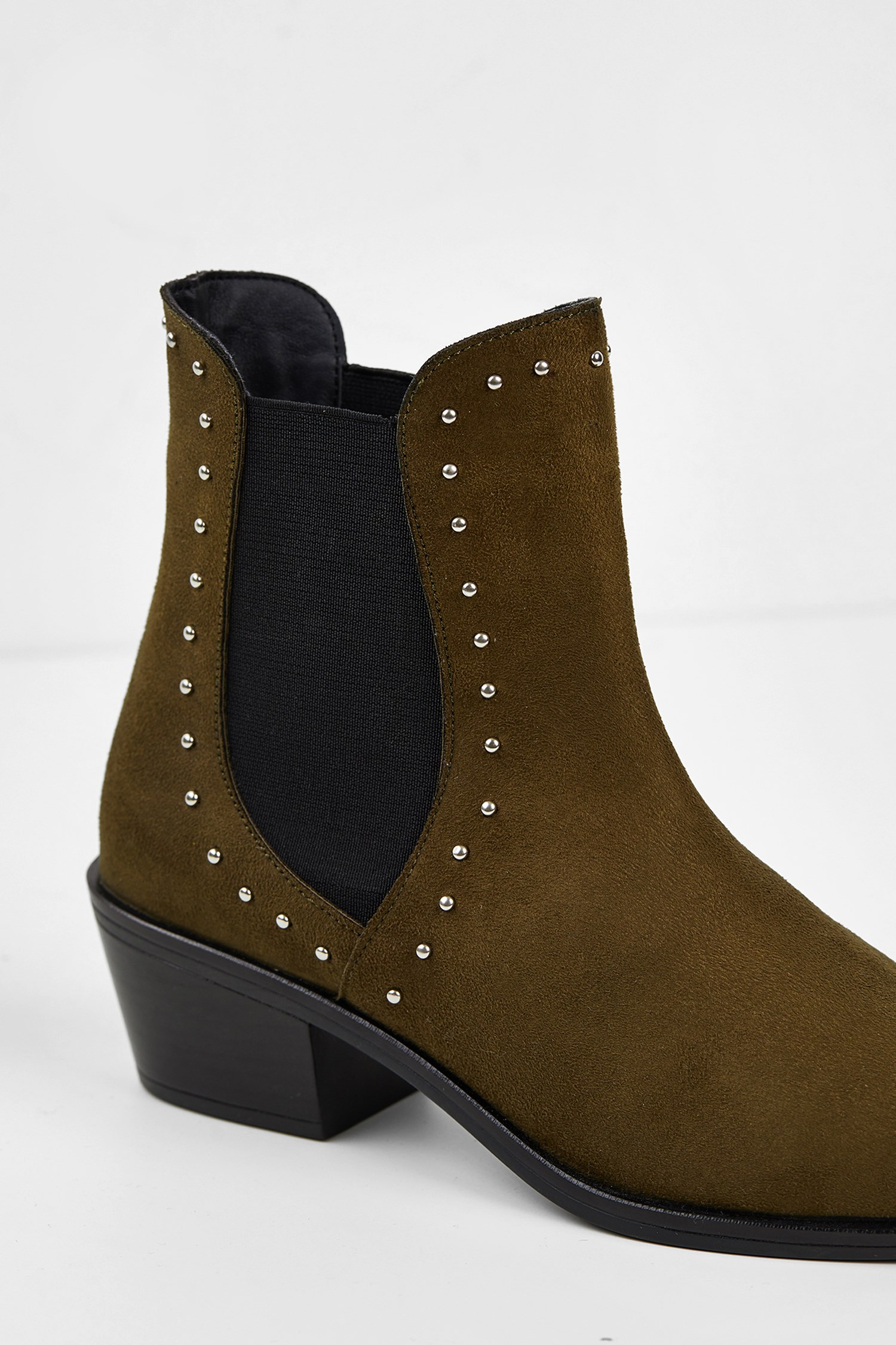 Women Green Boot with Details