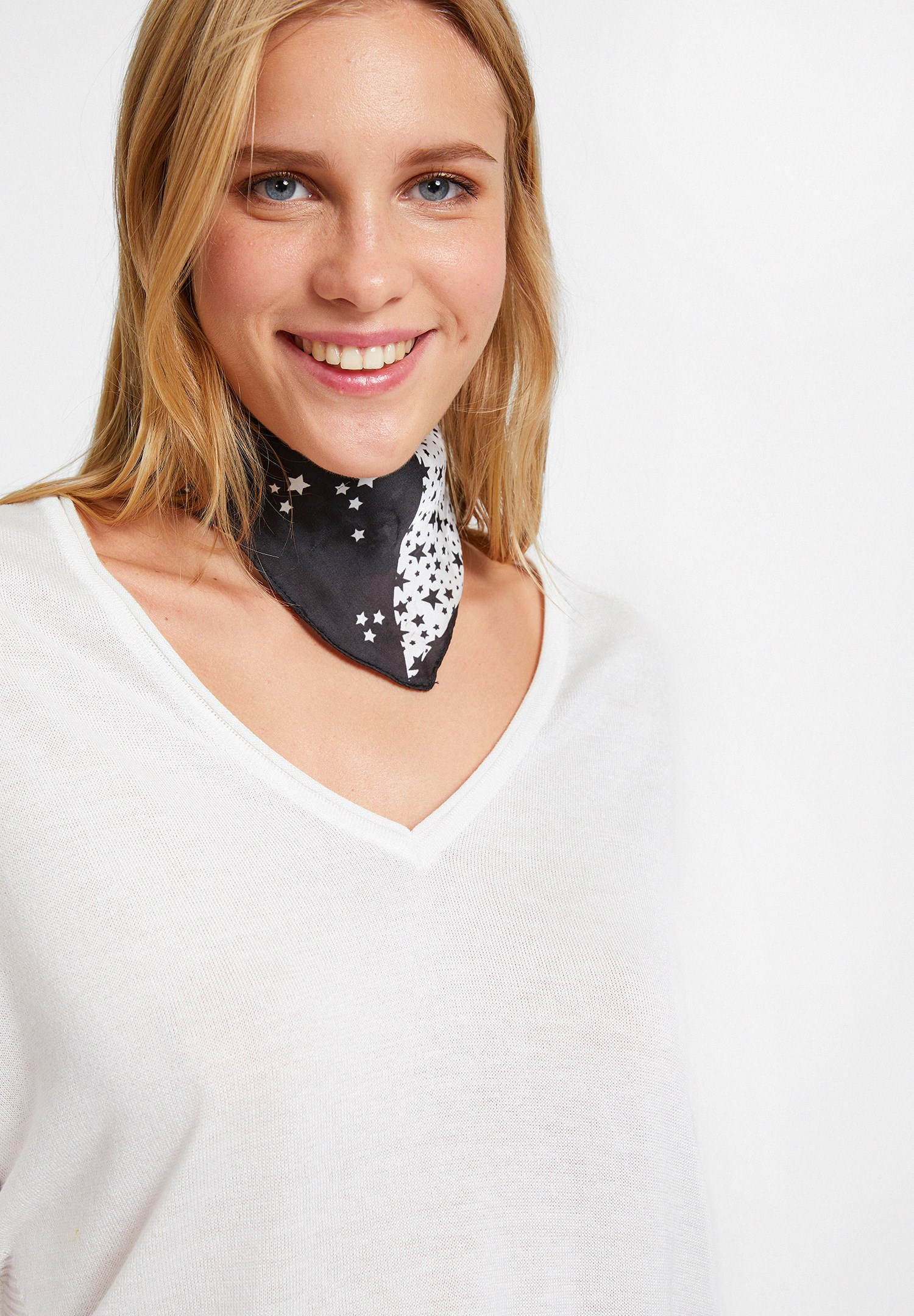 Women Cream Knitwear with Side Details