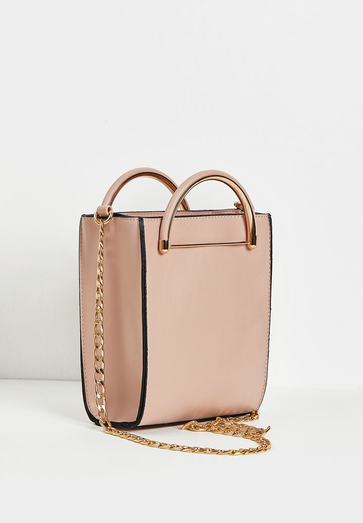Pink Box Shape City Bag