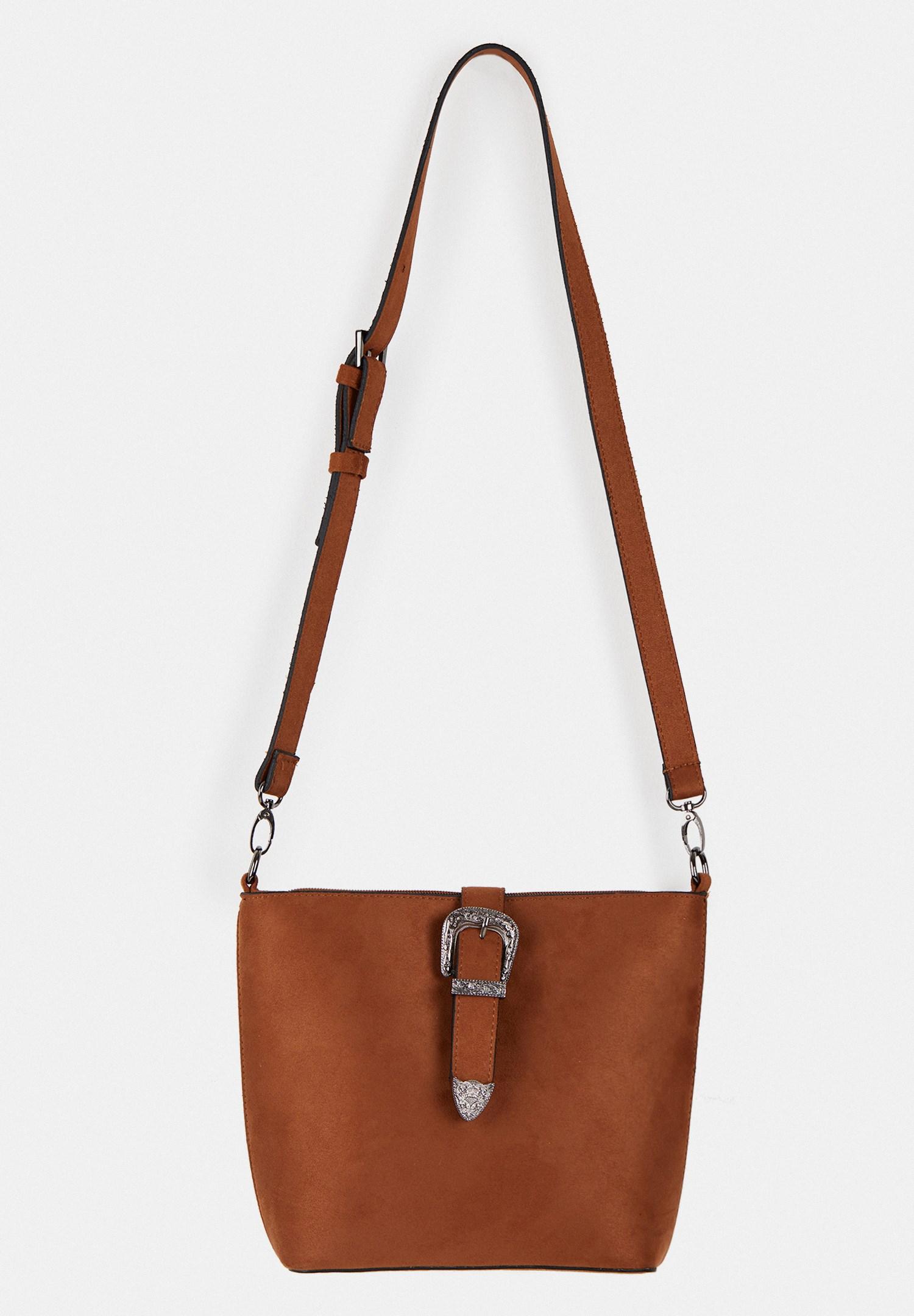 Women Brown Suede Shoulder Bag