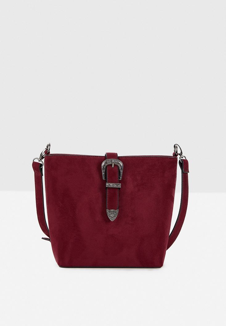 Bordeaux Suede Shoulder Bag