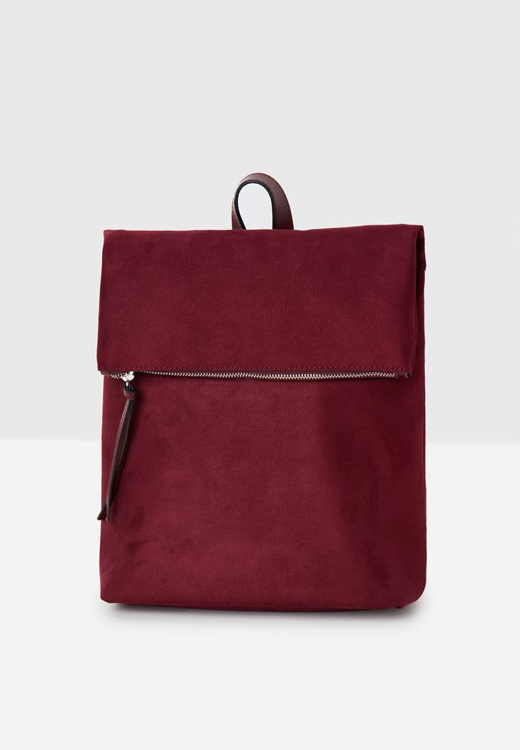 Bordeaux Suede Backpack