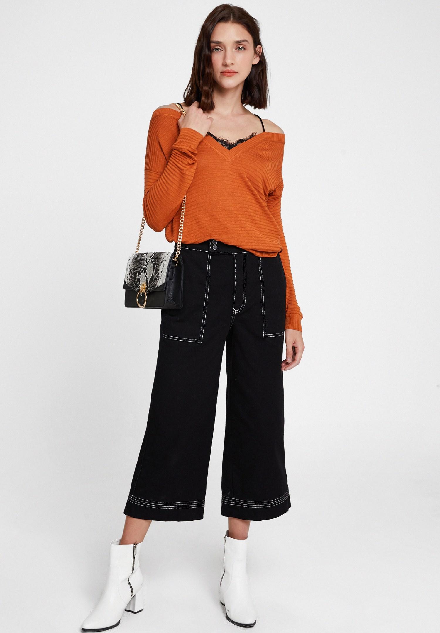 Women Mixed Snakeskin Print Handbag with Details