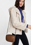 Women Brown Tasseled Shoulder Bag with Details