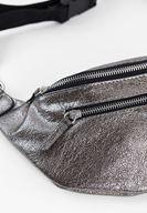 Women Grey Belt Bag with Shiny Detail