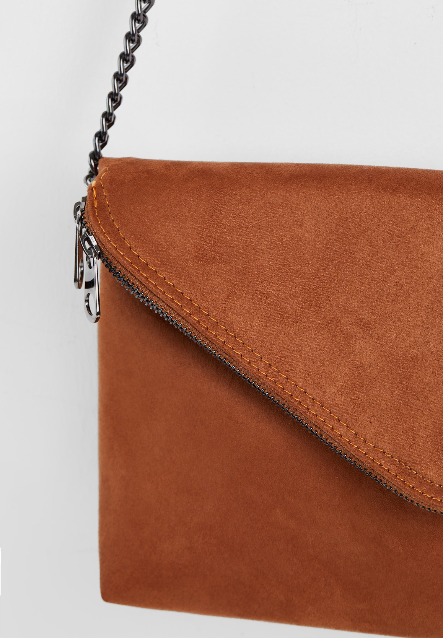 Women Brown Suede Crossbody Bag