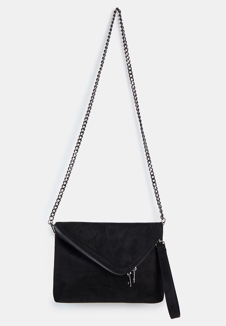 Siyah Zincir Askılı Zarf Çanta