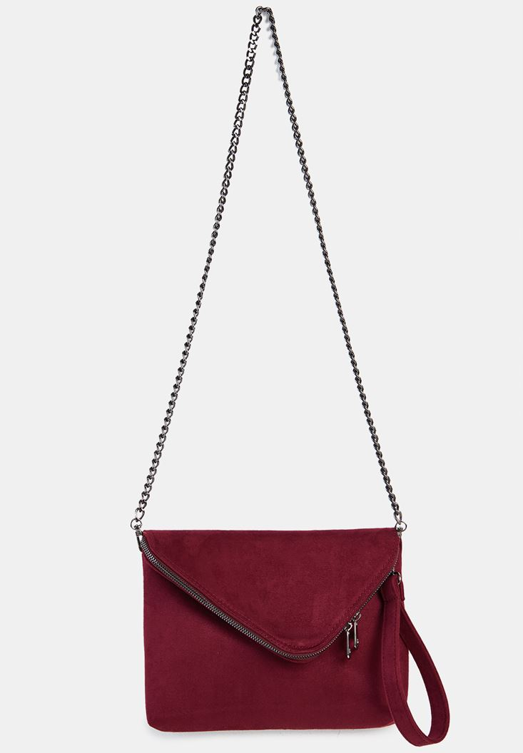 Bordeaux Suede Crossbody Bag