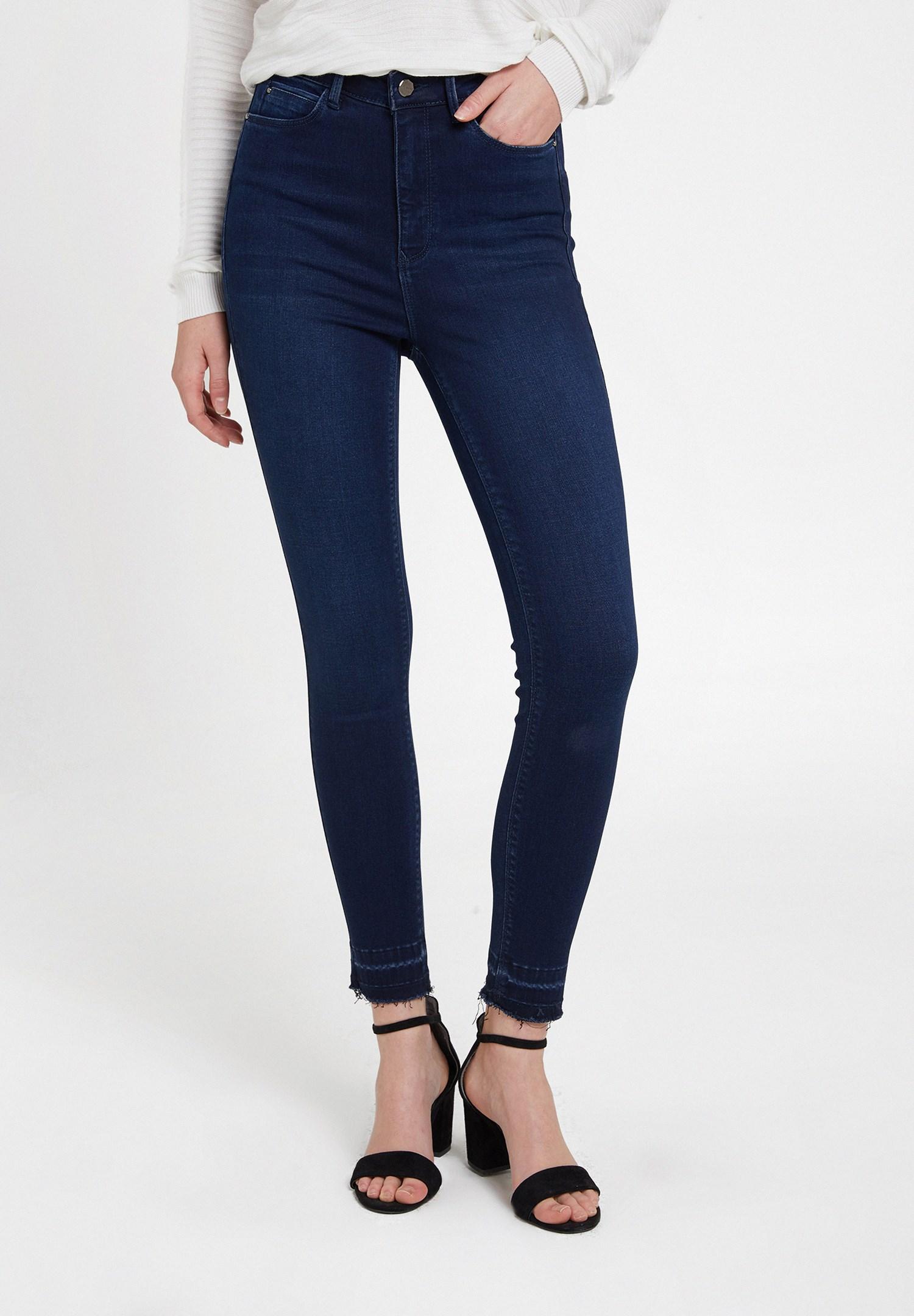 Women Blue High Rise Skinny Ankle Denim Pants