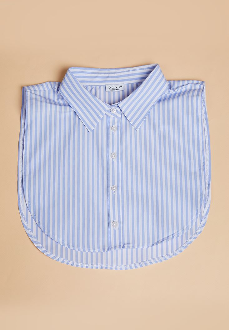 Mixed Striped Neck with Buttons