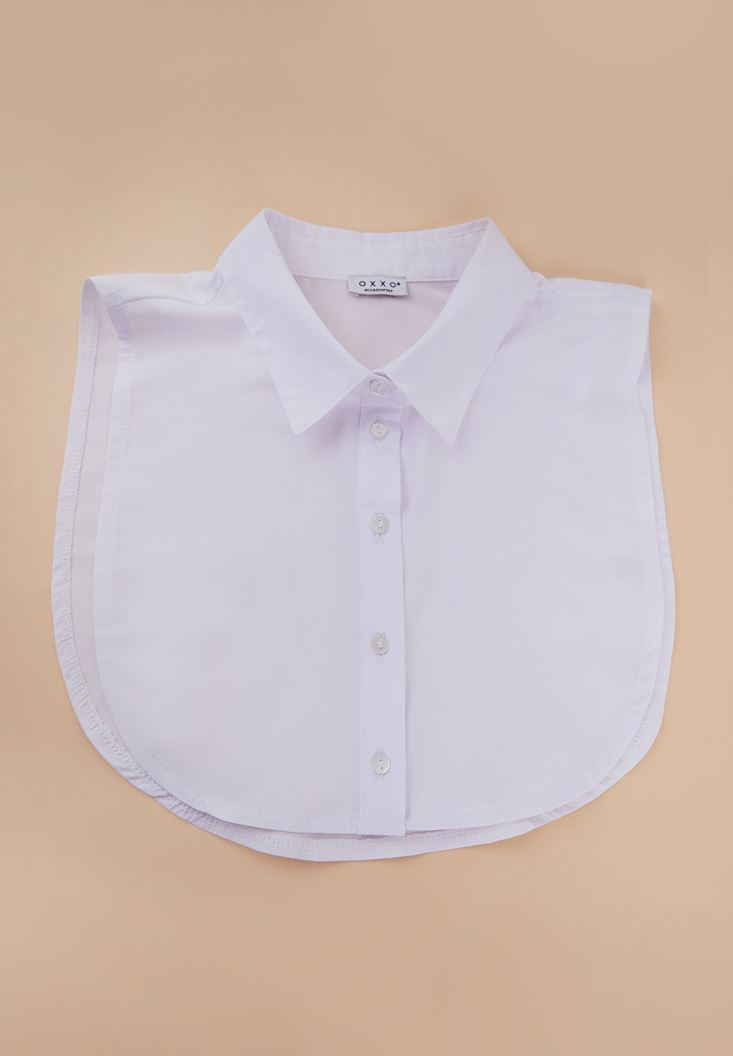 White Neck with Button