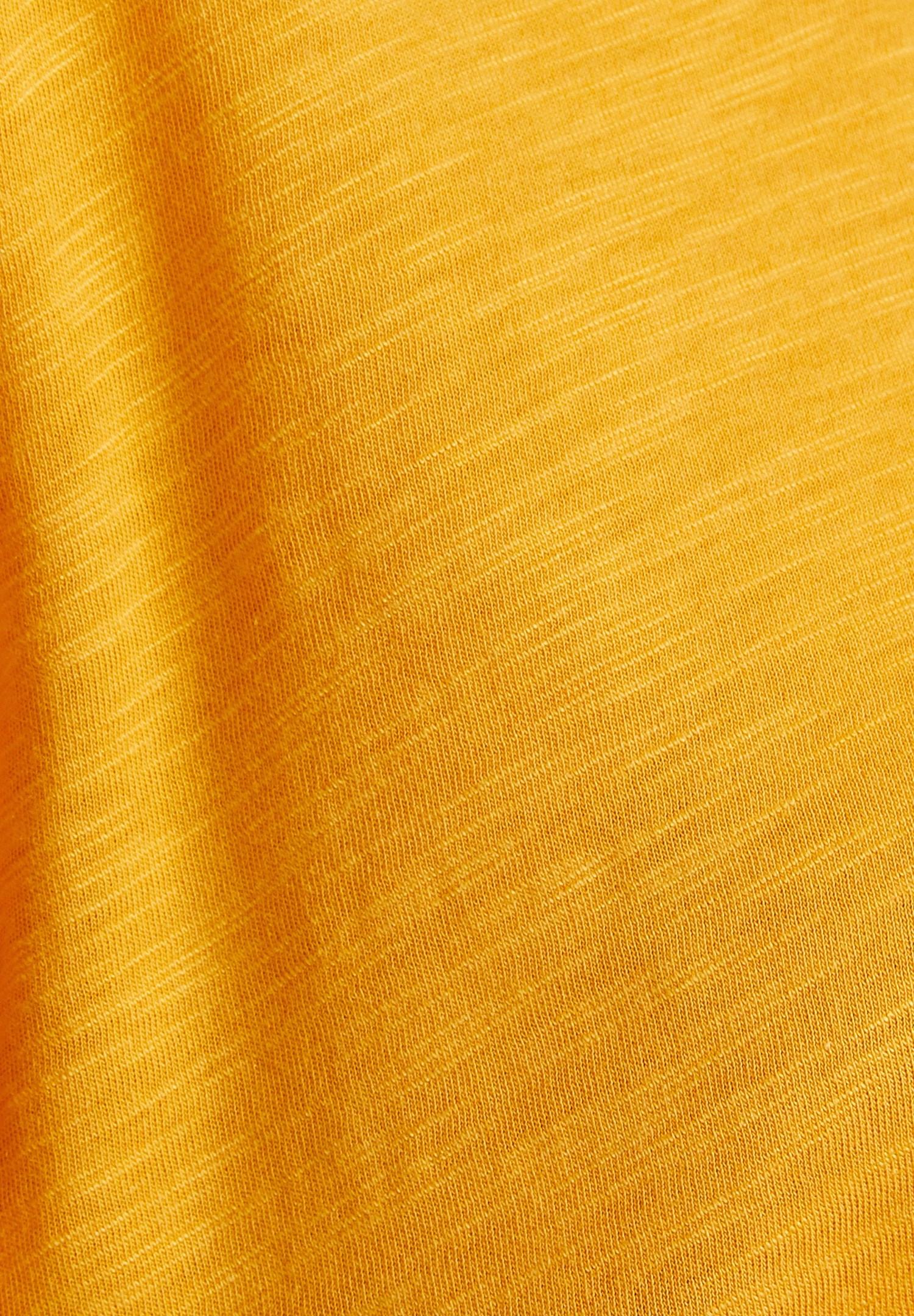Bayan Turuncu U Yaka Basic Modal Karışımlı Tişört