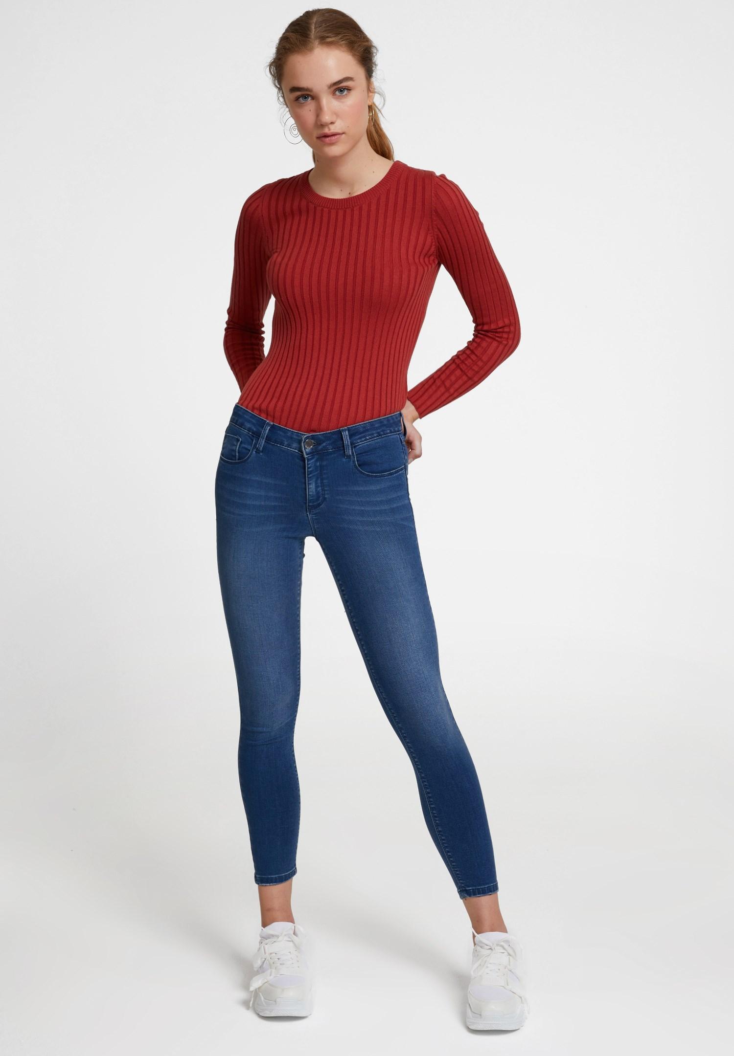 Bayan Kırmızı Modal Karışımlı Triko