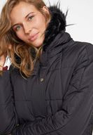 Women Black Hooded Down Puffer Jacket