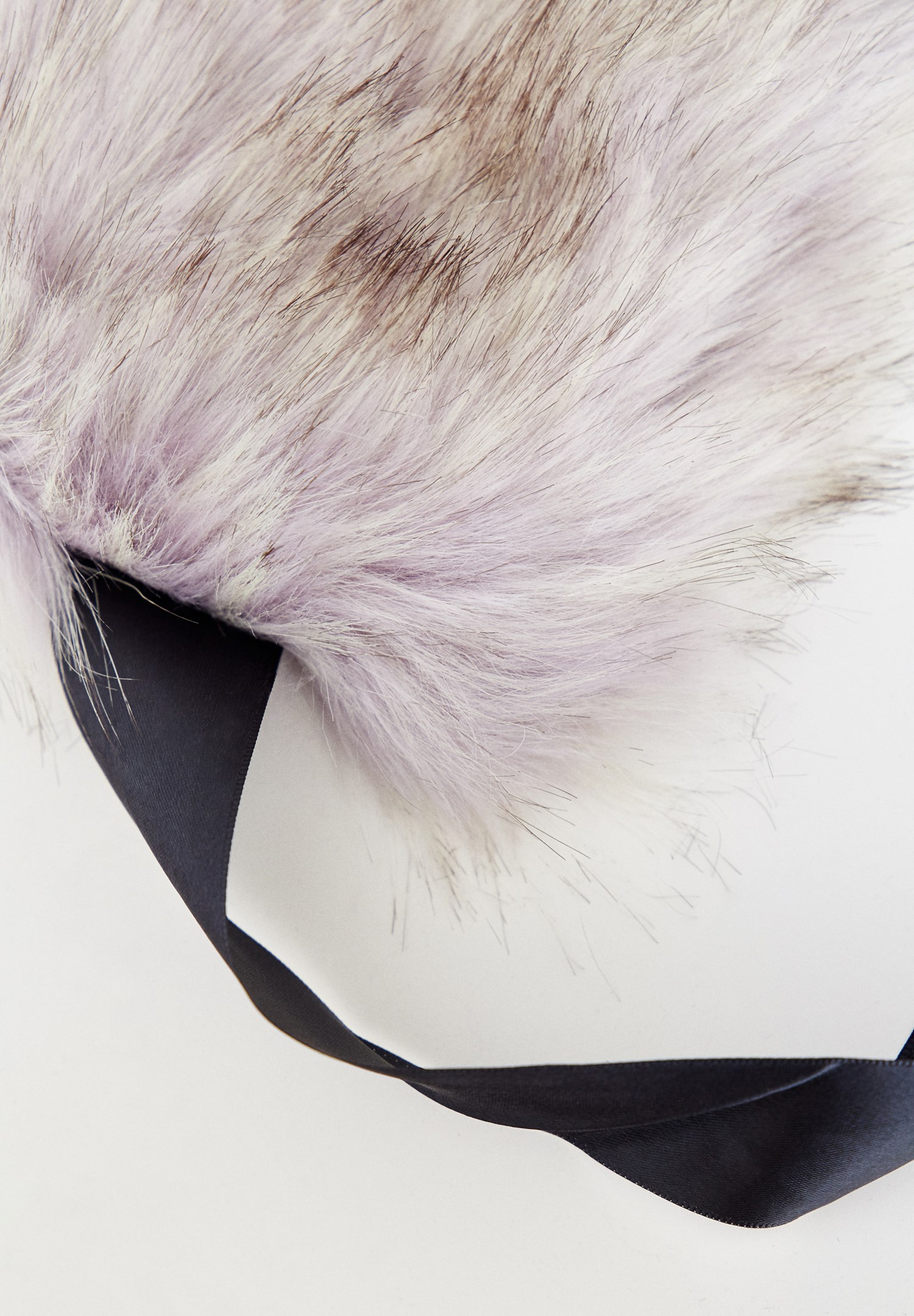 Women Grey Fur with Ribbons