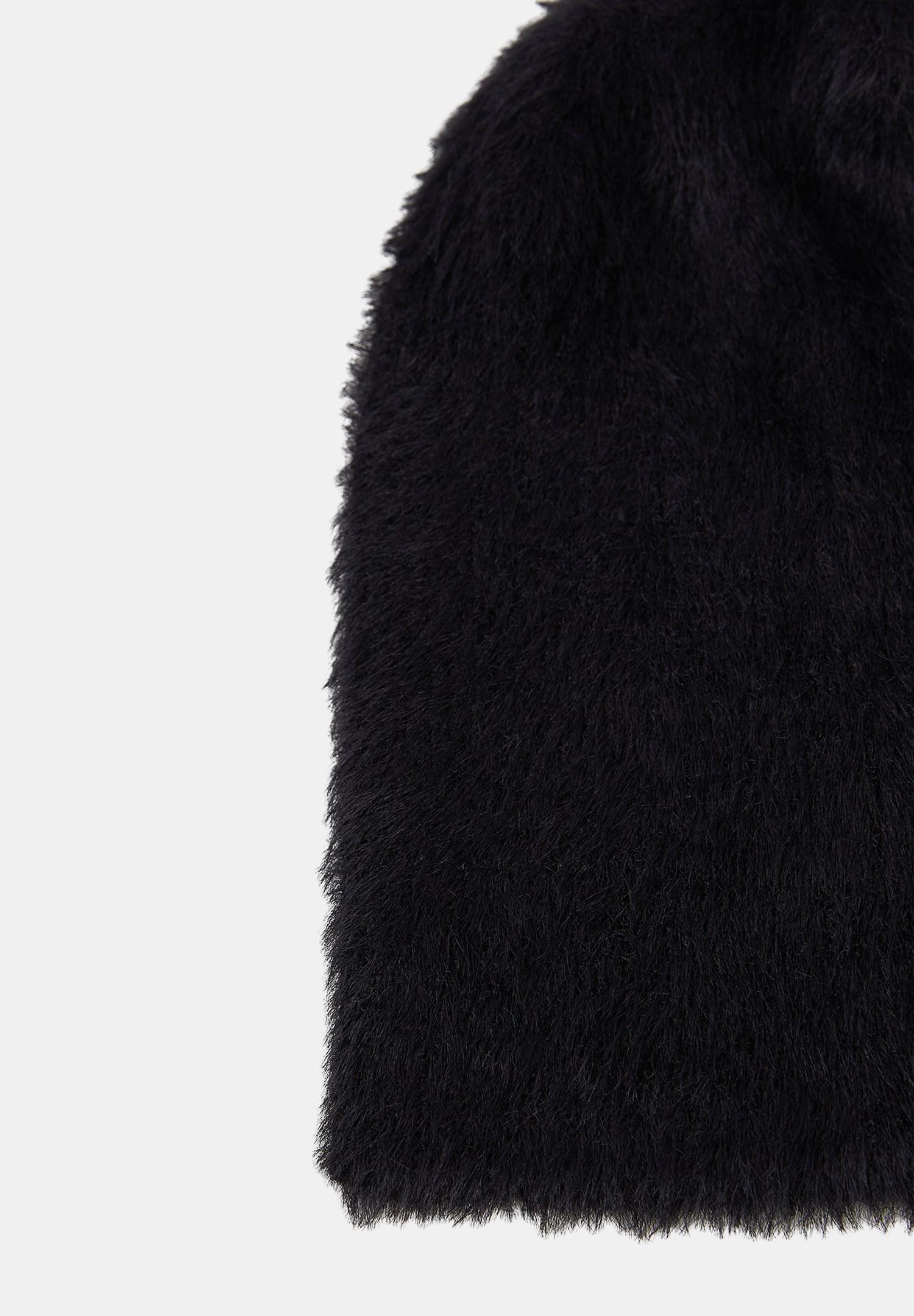 Women Black Beanie with Details