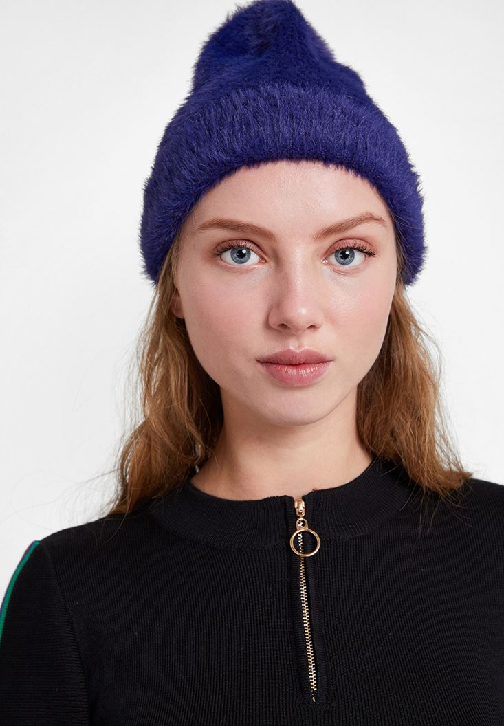 Navy Beanie with Details