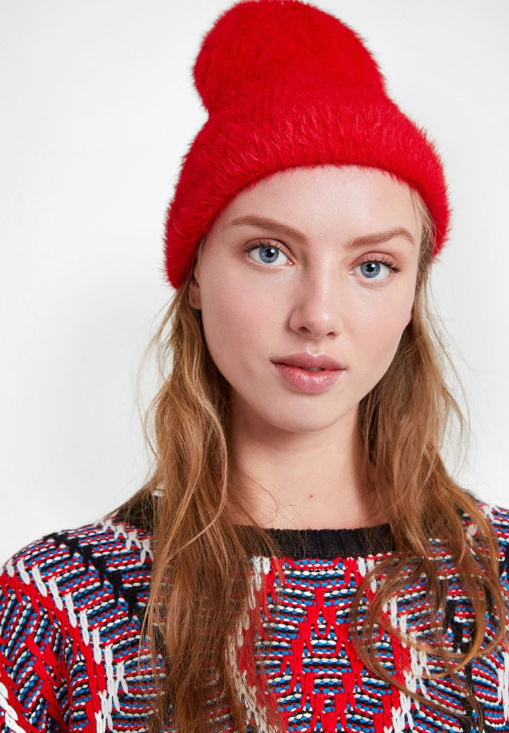 Red Beanie with Details