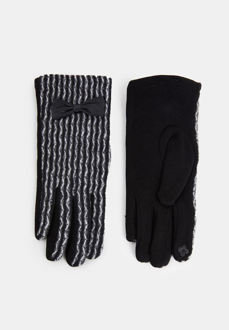 Black Gloves with Stripe