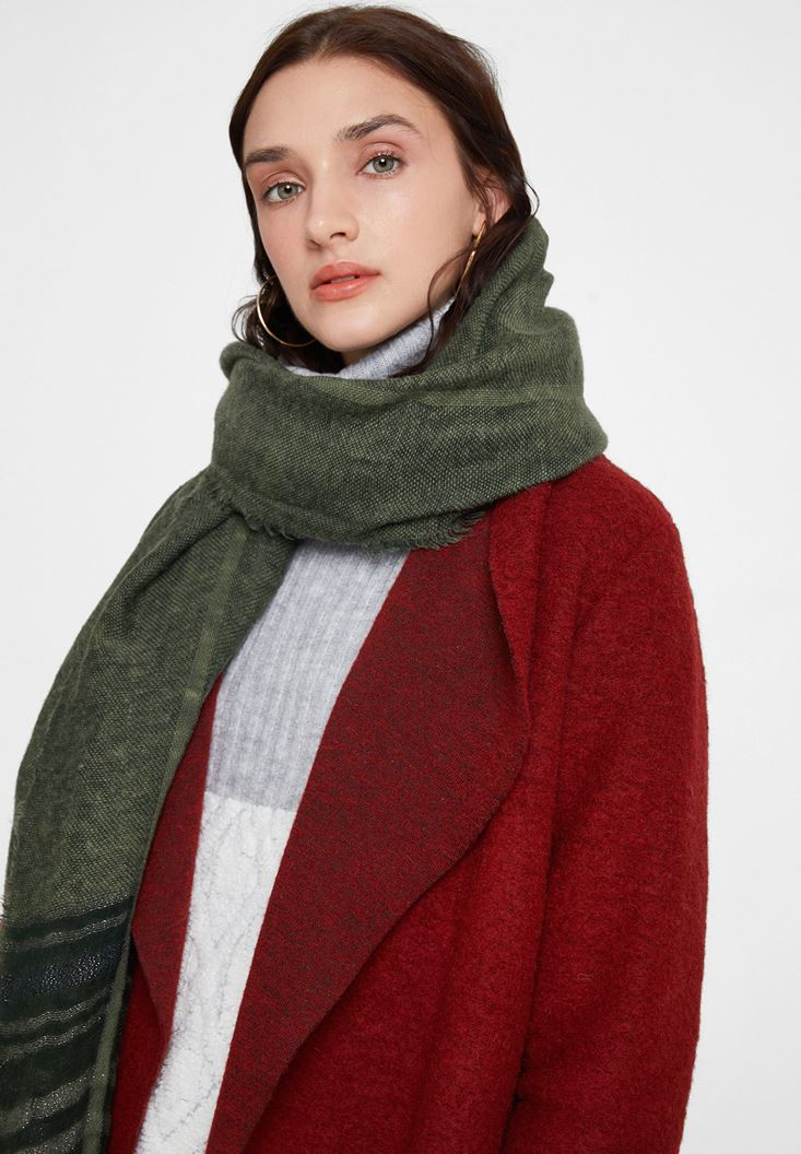 Mixed Scarf with Stripe