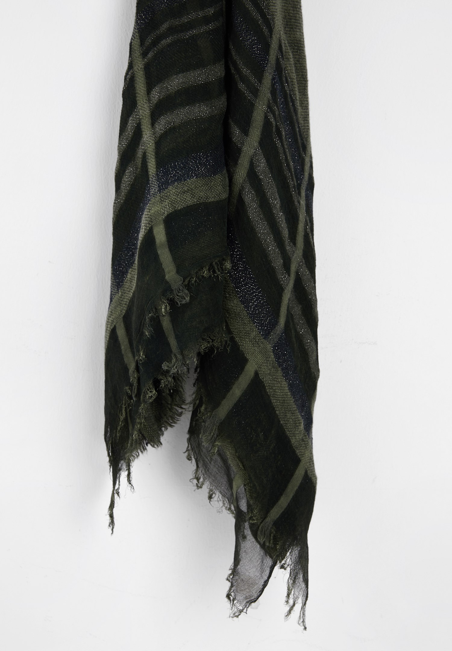 Women Mixed Scarf with Stripe