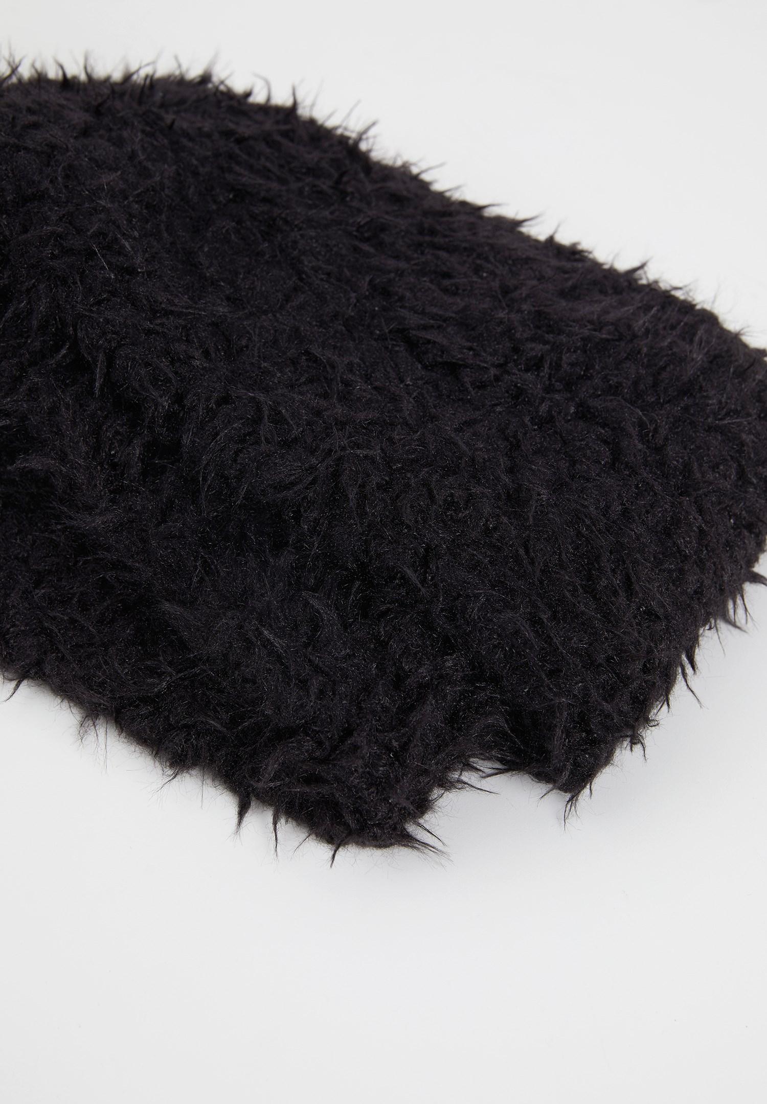 Bayan Siyah Suni Kürklü Boyunluk