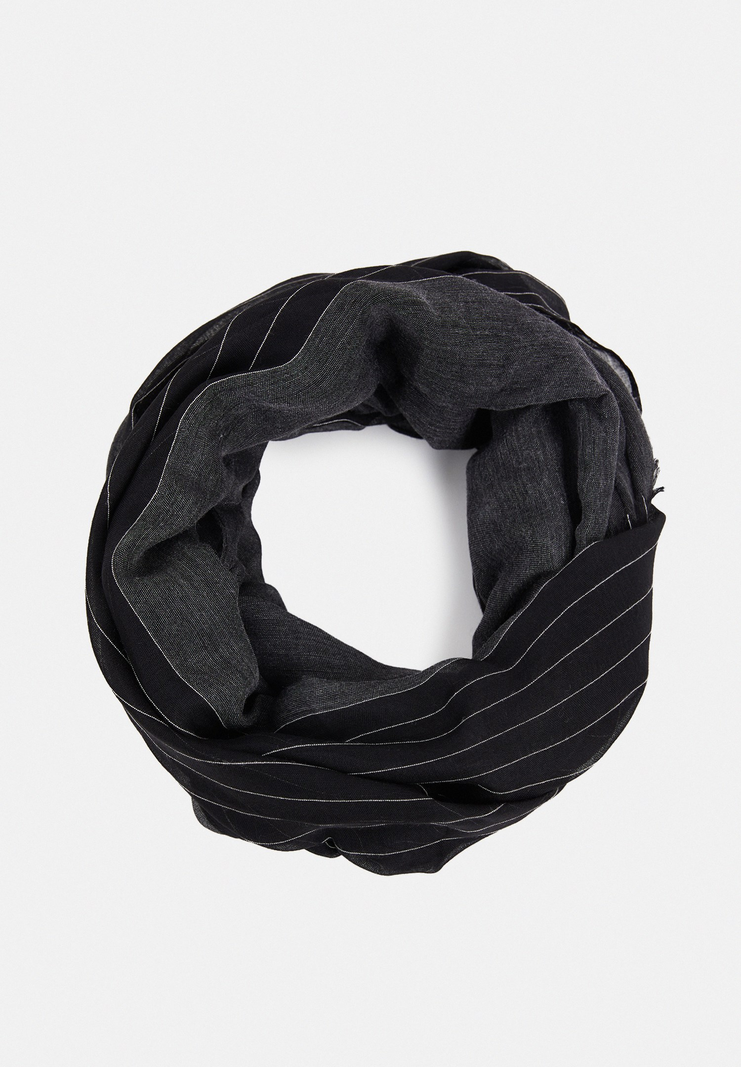 Women Black Shawl with Lines Details