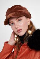 Women Brown Textured Hat