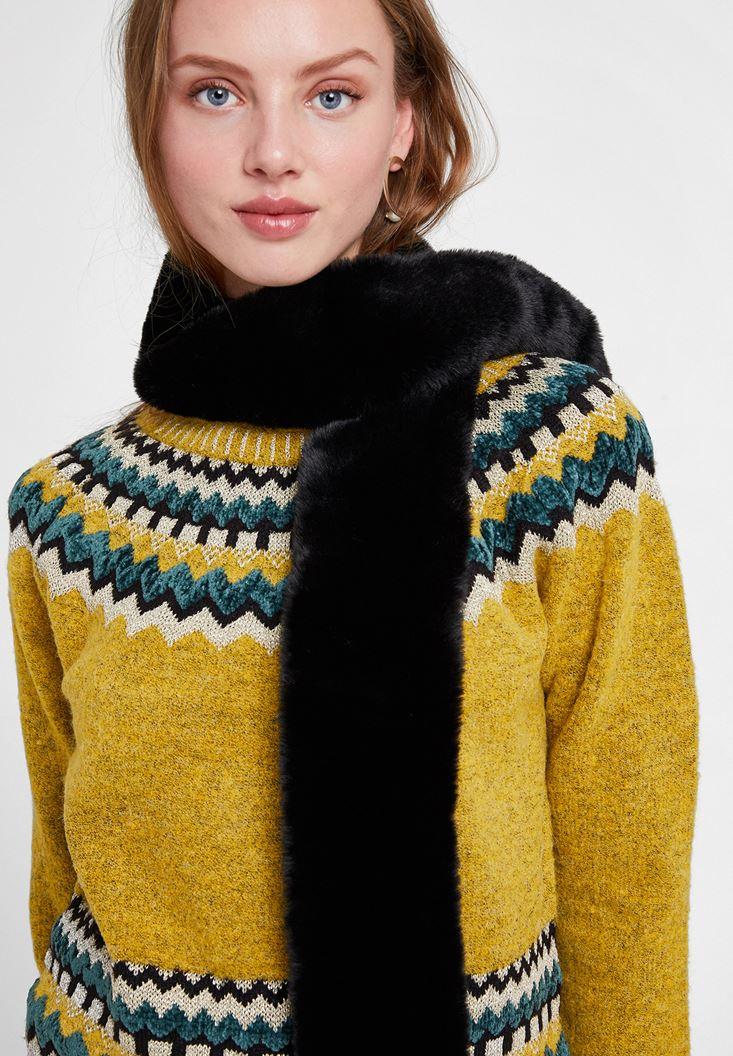 Long Faux Fur Shawl
