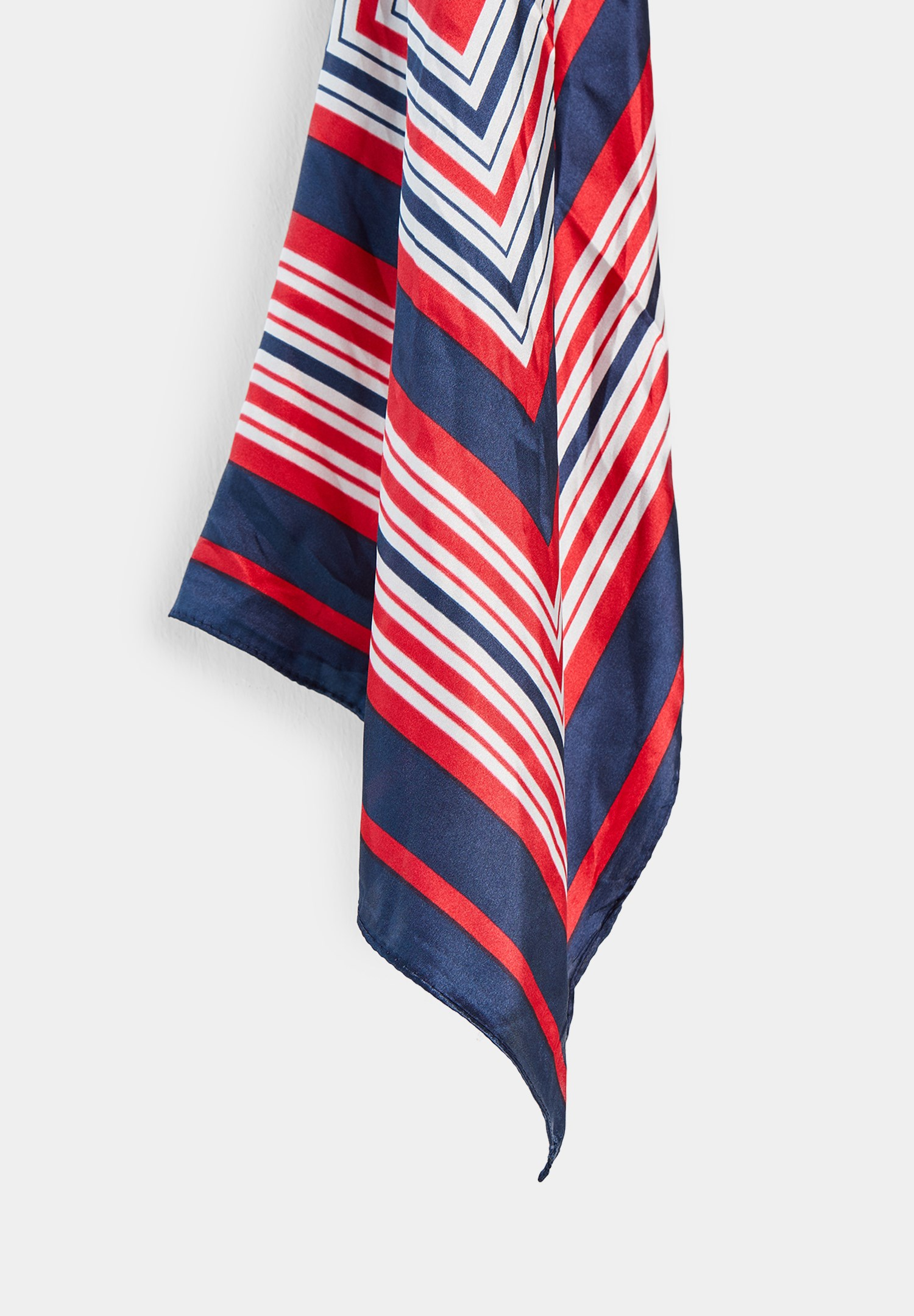 Women Navy Striped Scarf with Mix Color