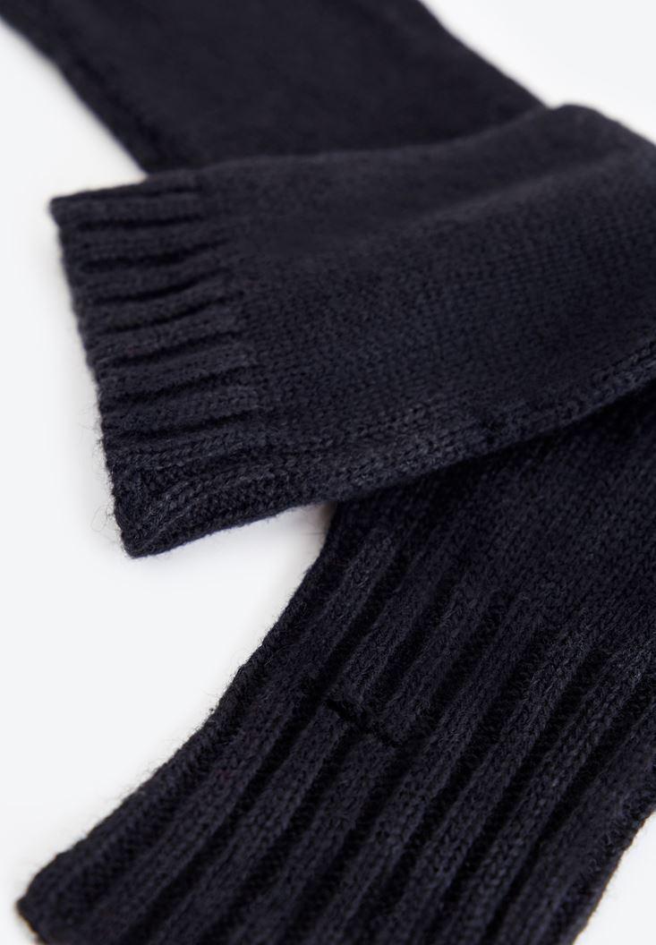 Siyah Dokulu Uzun Eldiven