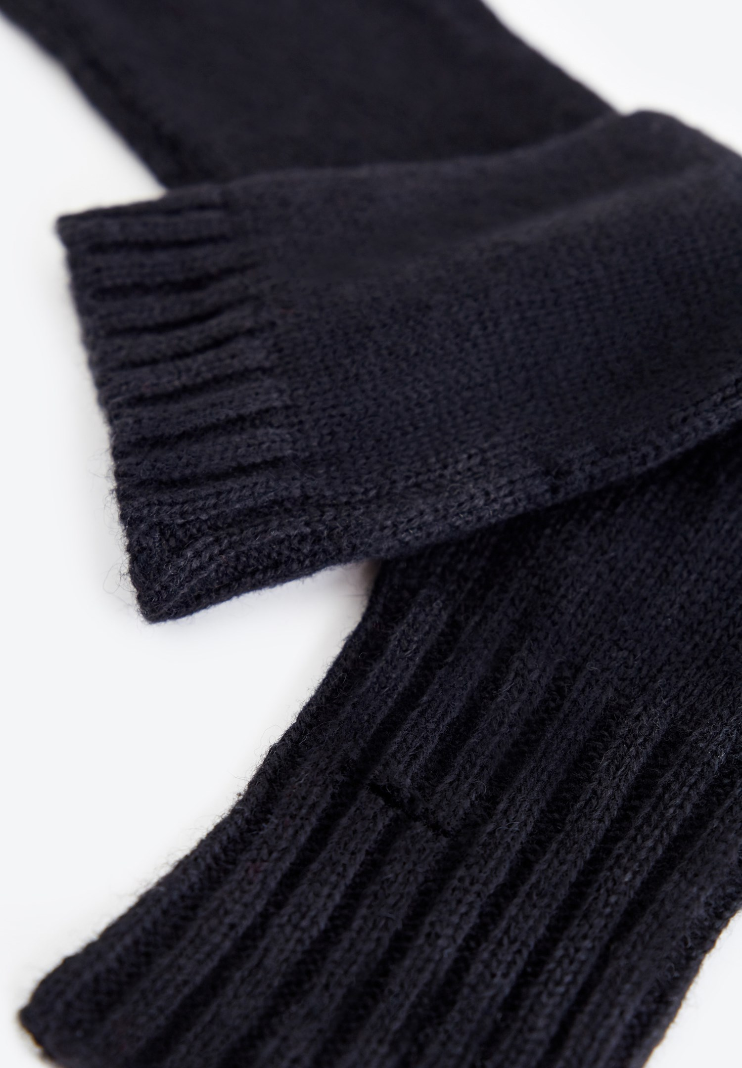 Bayan Siyah Dokulu Uzun Eldiven