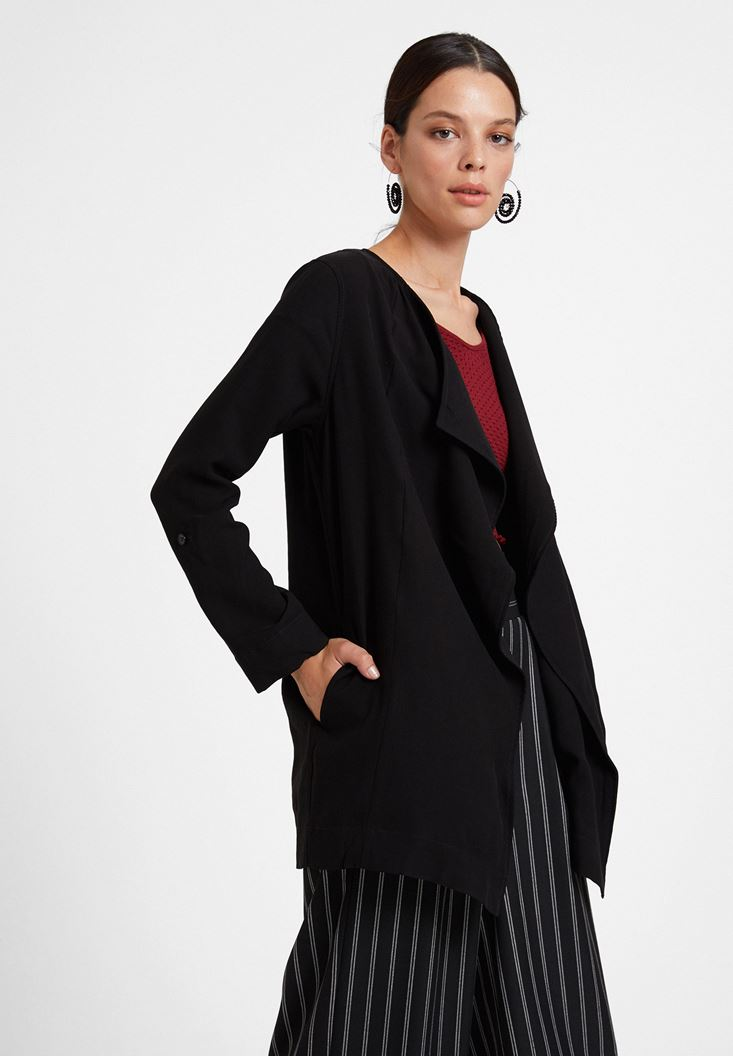 Black Jacket with Neck Detail