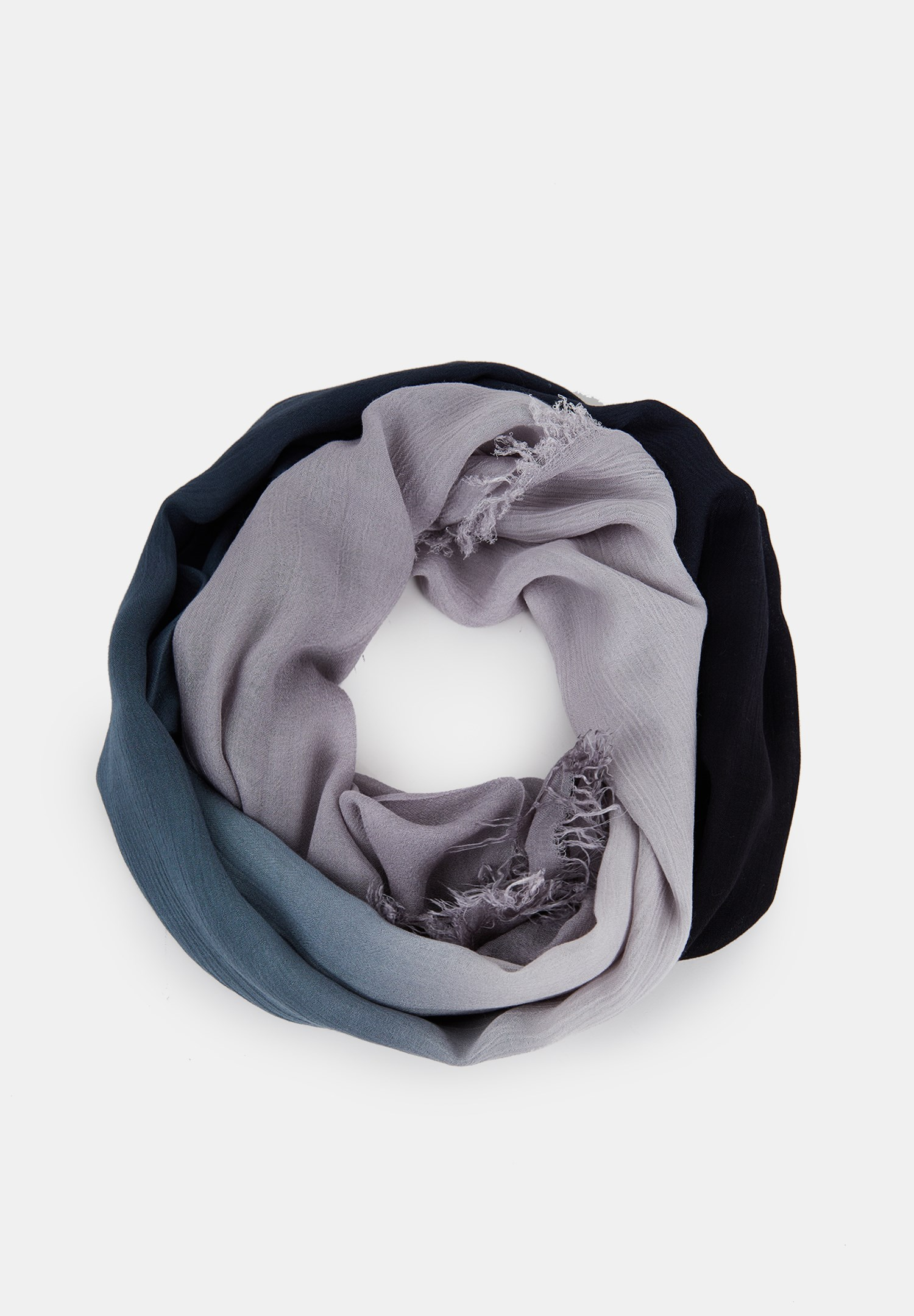 Women Black Scarf with Mix Color Details